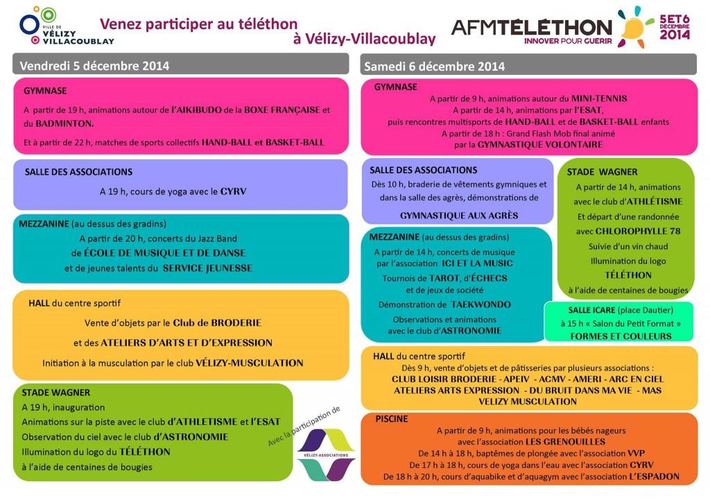 Programme Téléthon Vélizy