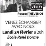 Réunion publique école René Dorme : 24 février à 20h